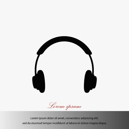 Headphone icon vector, flat design best vector icon illustration. Ilustração
