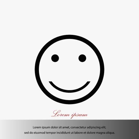 Smiles icon vector, flat design best vector icon.