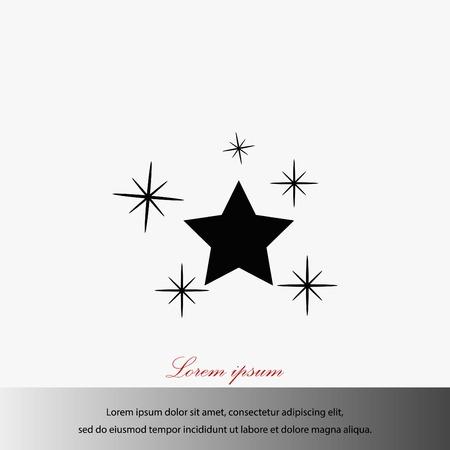 Star vector icon, flat design best vector icon.