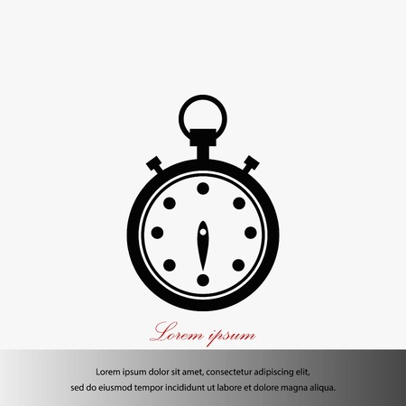 Stopwatch isolated on white, a flat design best vector icon illustration Illustration