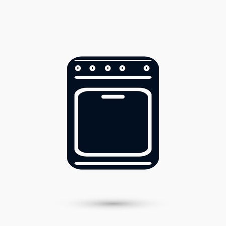 stove icon vector, flat design best vector icon  イラスト・ベクター素材