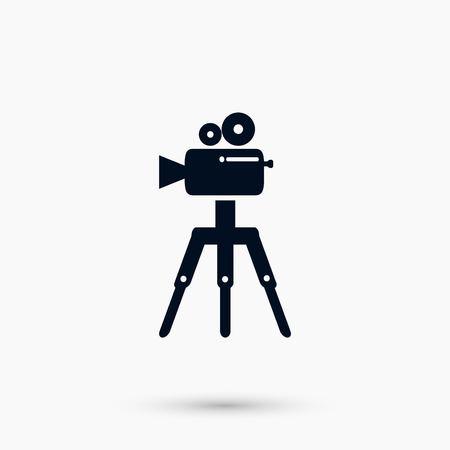 Video camera icon, flat design best vector icon.