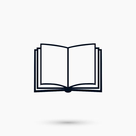 Book icon isolated on whitebackground, flat design best vector icon 向量圖像