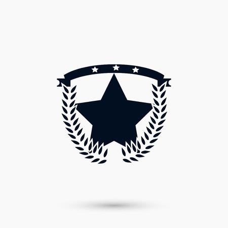 Wheat star vector, flat design best vector icon illustration.