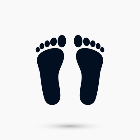 A foot vector icon, flat design best vector icon