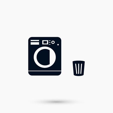 세탁 아이콘 벡터, 플랫 디자인 최고의 벡터 아이콘