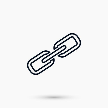 Chain link icon, flat design best vector icon Çizim
