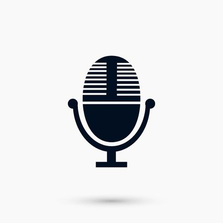 A Vector microphone icon, flat design best vector icon Illustration