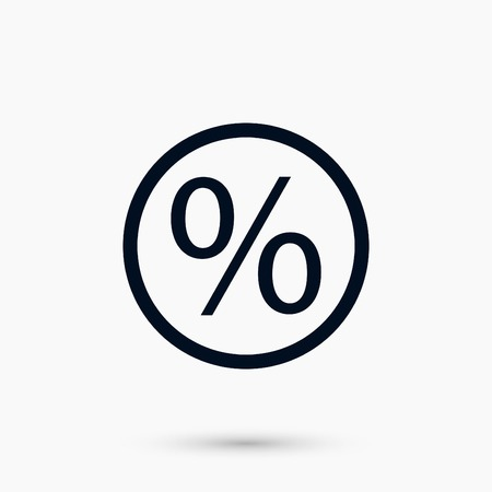 A percent icon vector, flat design best vector icon Illustration