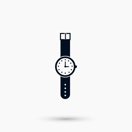 A wristwatch icon vector, flat design best vector icon Illustration