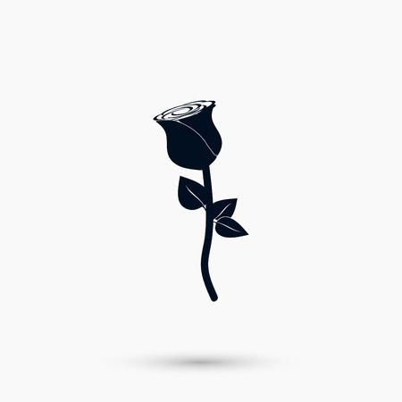 A rose icon vector, flat design best vector icon Illustration