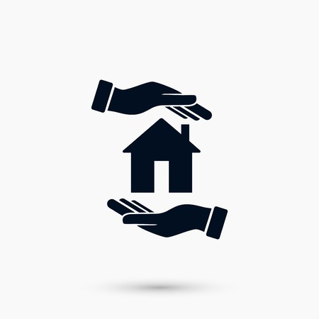 House in hand vector, flat design best vector icon Illustration
