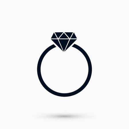A ring icon vector, flat design best vector icon Illustration