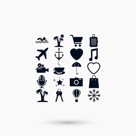Travel Icons vector, flat design best vector icon Vectores