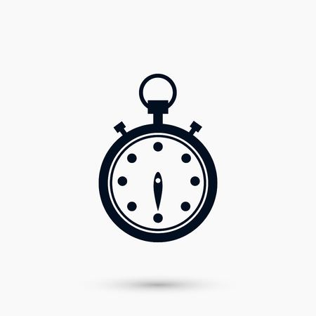 Stopwatch icon vector, flat design best vector icon Illustration