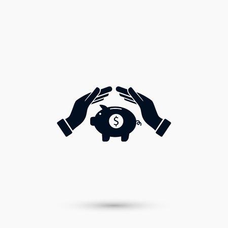 A Vector icon saving, piggy bank, flat design best vector icon