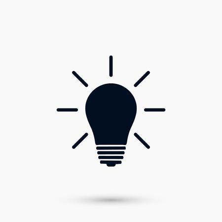Light bulb icon, flat design best vector icon Illustration