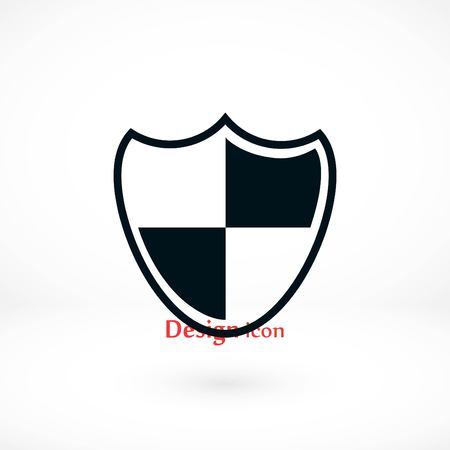 Shield sign icon, flat design best vector icon