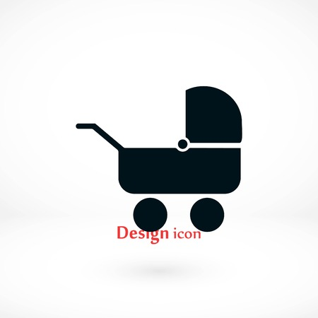 Pram icon vector, flat design best vector icon