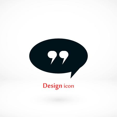 Quote icon vector, flat design best vector icon 向量圖像