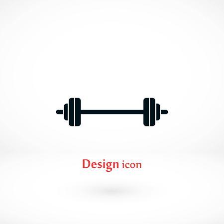 barbel icon vector, flat design best vector icon Illustration