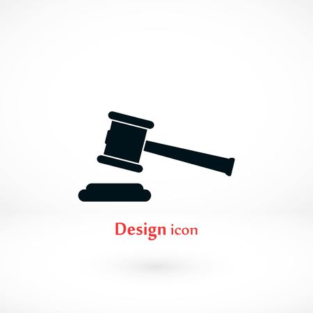 Hammer of judge vector icon