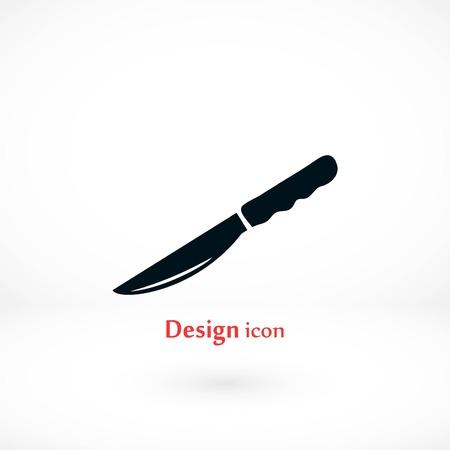 Knife icon vector, flat design best vector icon Stock Illustratie