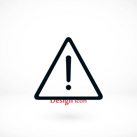 Warning road sign vector icon, flat design best vector icon