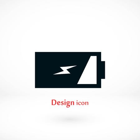Battery icon vector, flat design best vector icon