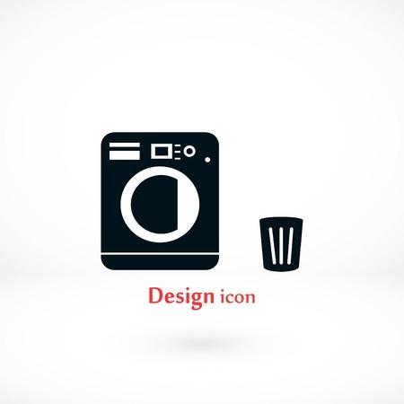 Laundry icon set  vector Ilustração