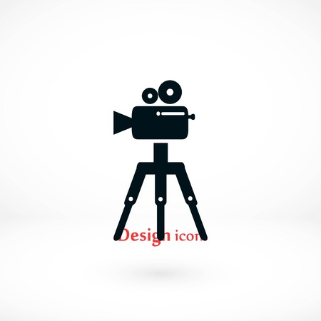 Video camera icon, flat design best vector icon Vectores