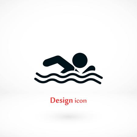 Swim icon vector, flat design best vector icon Vectores