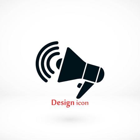loudspeaker icon vector, flat design best vector icon Vectores
