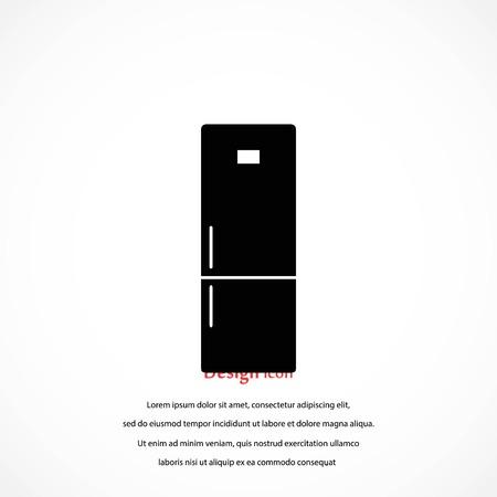 refrigerator icon vector, flat design best vector icon