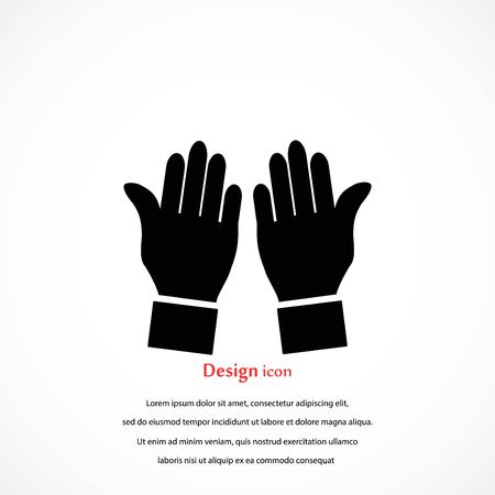 hand vector icon, flat design best vector icon