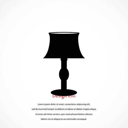 tafellamp pictogram, platte ontwerp beste vector pictogram