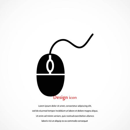 Computer mouse icon, flat design best vector icon Illustration