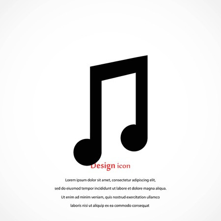 music vector icon, flat design best vector icon