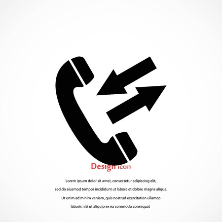black phone icon, flat design best vector icon