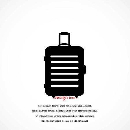 travel bag icon, flat design best vector icon Çizim