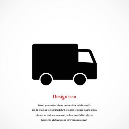 truck vector icon, flat design best vector icon 矢量图像