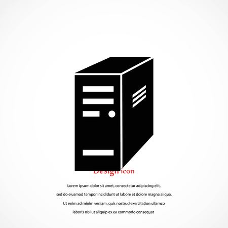 Computer server icon, flat design best vector icon.