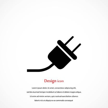 An electrical plug icon, flat design.