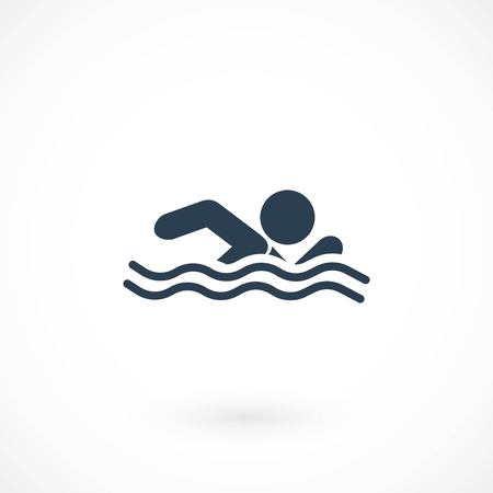 swim icon vector, flat design best vector icon