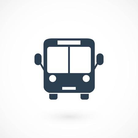 bus icon vector, flat design best vector icon