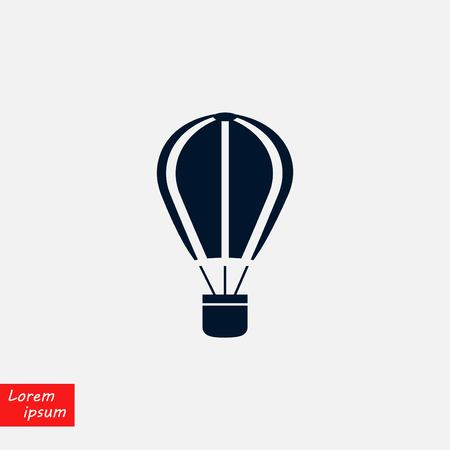 parachute icon vector, flat design illustration.