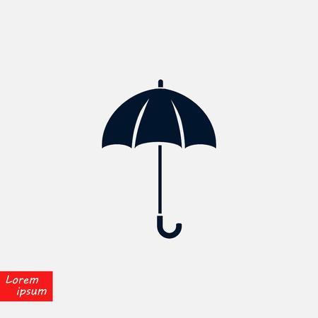 Umbrella icon vector, flat design illustration.