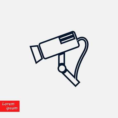Surveillance Camera vector icon, flat design illustration.