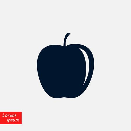 apple icon vector, flat design illustration.