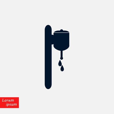 soap dispenser icon vector, flat design illustration. 写真素材 - 99183333